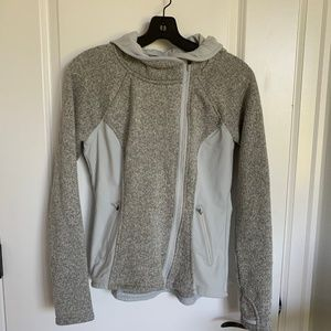 Athleta Oatmeal Wool Fall Jacket/Hoodie